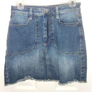 Arizona Jean Company Embellished Denim Jean Skirt